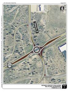 The city of Prineville, is considering the construction of a roundabout to ease traffic near the Apple and Facebook data centers.